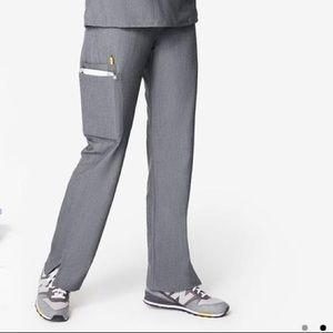 FIGS KADE cargo straight soft scrub pants gray MP